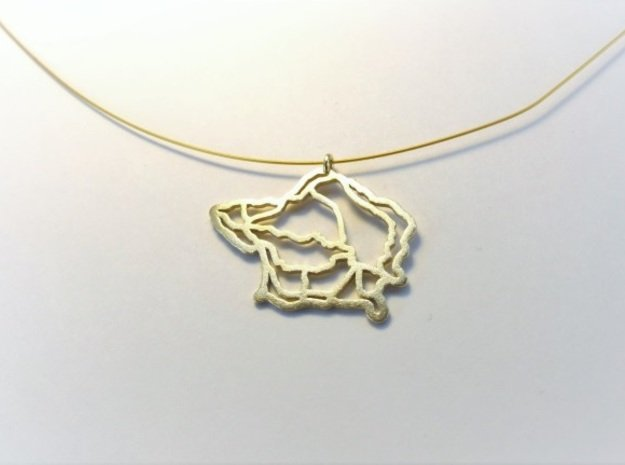 Fajal Azores Pendant  in Natural Brass