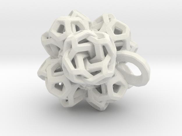 Pendant flower 2 in White Natural Versatile Plastic