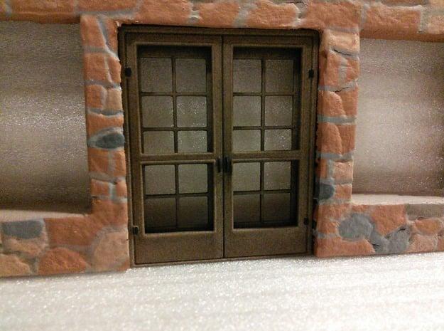 Door, French with Screen Doors, 68in X 82in in White Natural Versatile Plastic