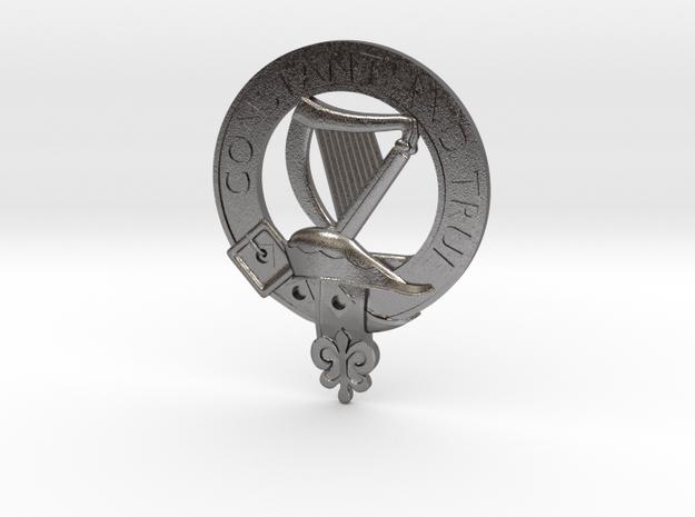 Large Clan Rose Crest in Polished Nickel Steel