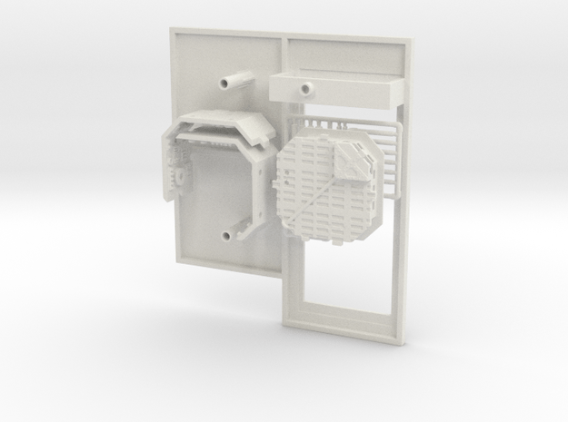 Platform Replacement with Single Pit for DeAgo Fal in White Natural Versatile Plastic