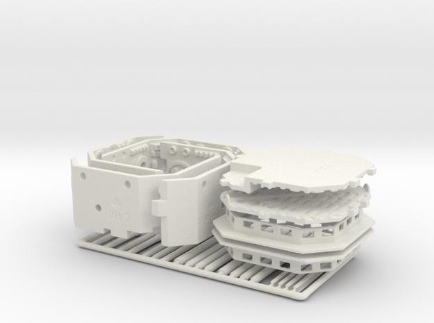 Maintenance Pit Dual Pack for DeAgo Falcon in White Natural Versatile Plastic