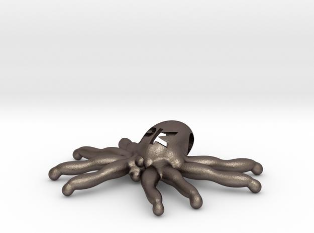 """The Parallelkeller """"Spider-Kraken"""" pendant (larger in Polished Bronzed Silver Steel"""