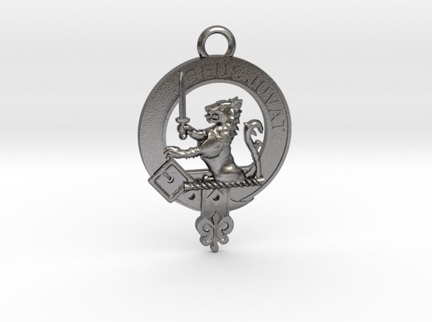 Clan MacDuff key fob in Polished Nickel Steel