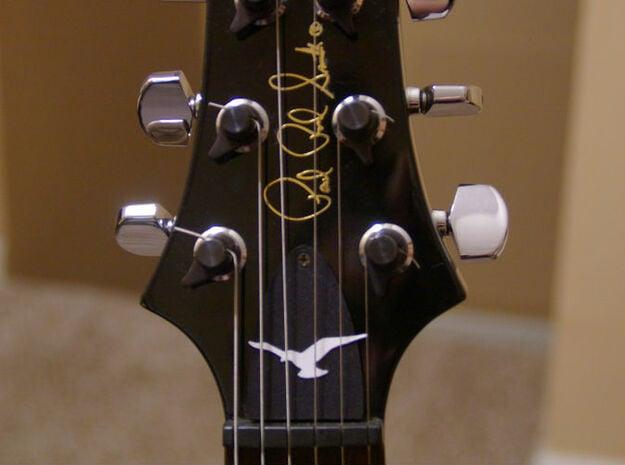 Truss Rod Cover for PRS Guitar - Seagull Insert in White Natural Versatile Plastic