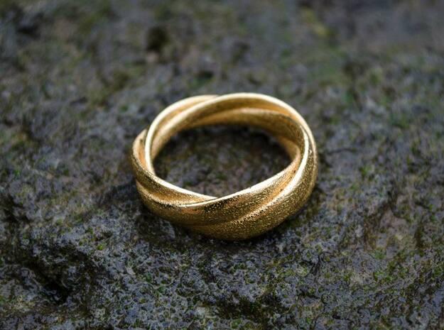 Torusring I   ( 20mm) in Polished Gold Steel