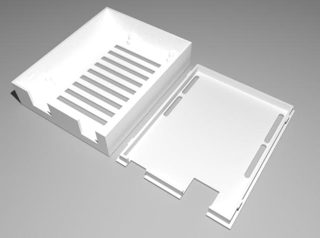 Arduino Uno Case in White Natural Versatile Plastic
