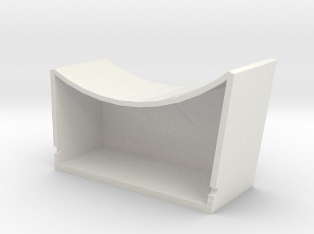 ESB Port Sidewall Pit in White Natural Versatile Plastic