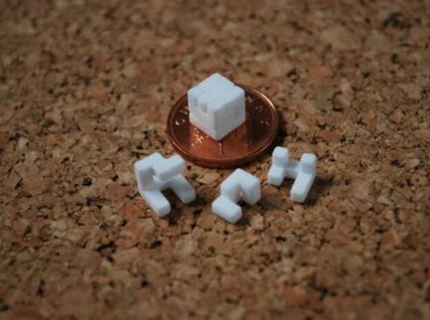 World's smallest cube in White Natural Versatile Plastic