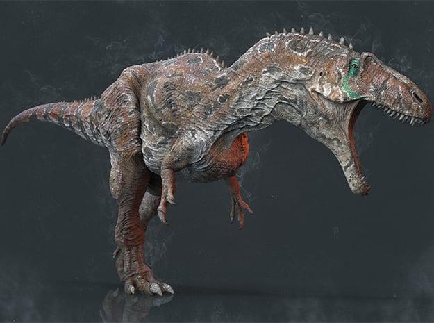 Acrocanthosaurus (Medium / Large size) in White Natural Versatile Plastic: Medium
