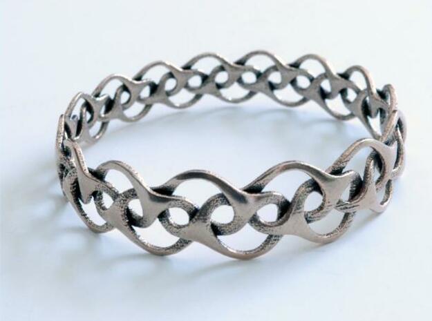 Bracelet I large in Polished Silver