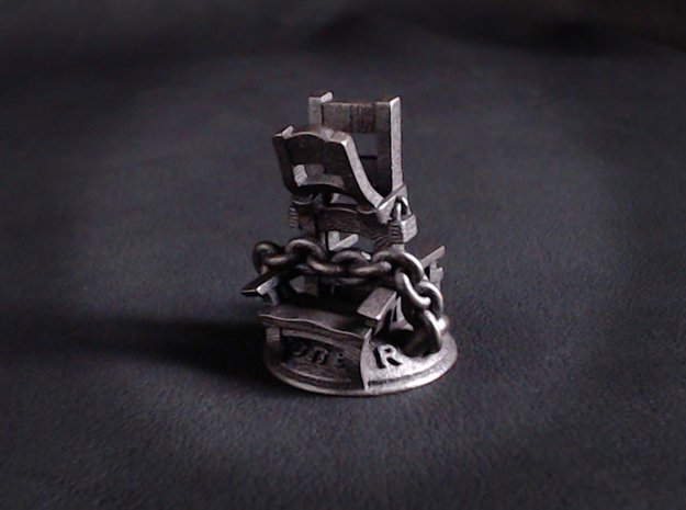 Loner  in Polished and Bronzed Black Steel