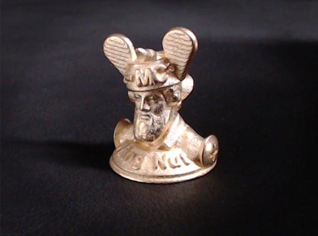 Wacky Wing Nut  in Polished Gold Steel