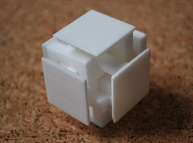 Steady State Cube in White Natural Versatile Plastic