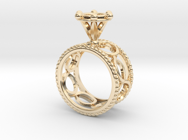 Ring Byzantinium Wide in 14k Gold Plated Brass: 5.5 / 50.25