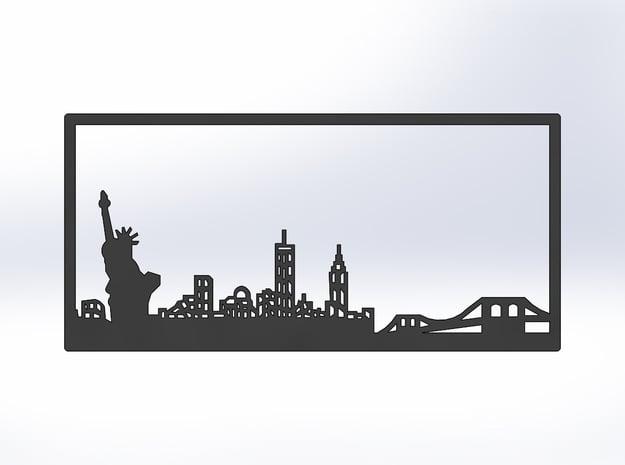 New York Skyline - Bookend in White Natural Versatile Plastic