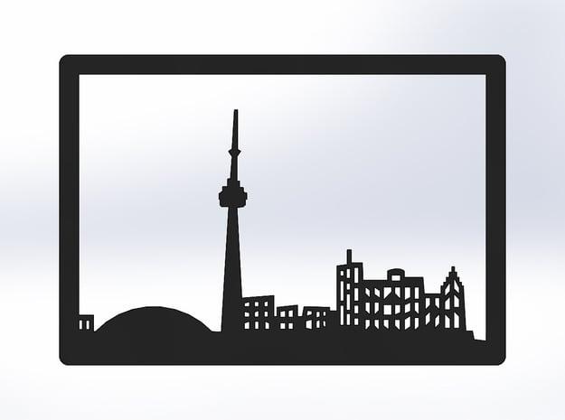 Toronto Skyline - Bookend in White Natural Versatile Plastic