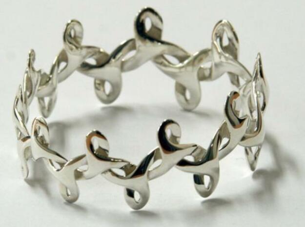 Bracelet IV Medium in White Processed Versatile Plastic