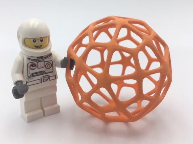 Deltoidal Hexecontahedron in Orange Processed Versatile Plastic
