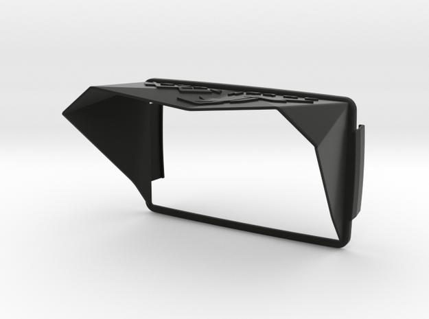 Sunshade (Clip-On) for BMW Navigator 6, XR-Logo in Black Natural Versatile Plastic