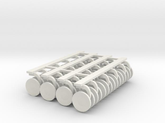 1/64 Centerfold Gangs in White Natural Versatile Plastic