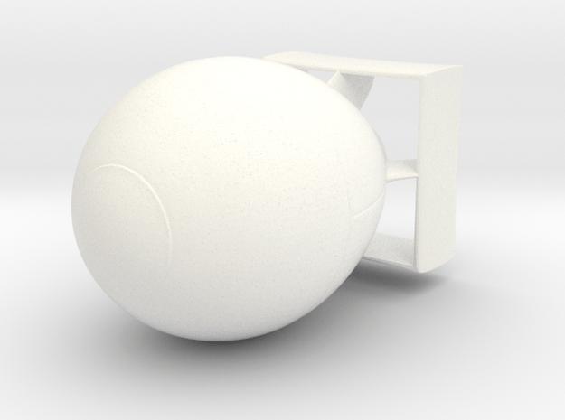 Cart Bomb in White Processed Versatile Plastic