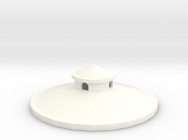 N Scale Water Tower Top 1:160 in White Processed Versatile Plastic