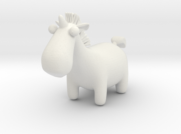 Cute Unicorn in White Natural Versatile Plastic