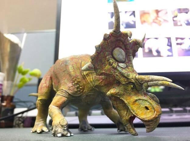 Xenoceratops, Self defense (Medium / Large size) in Smooth Fine Detail Plastic: Medium