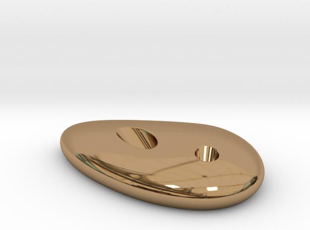 Liquid DROP pencil holder 85x60x15mm in Polished Brass