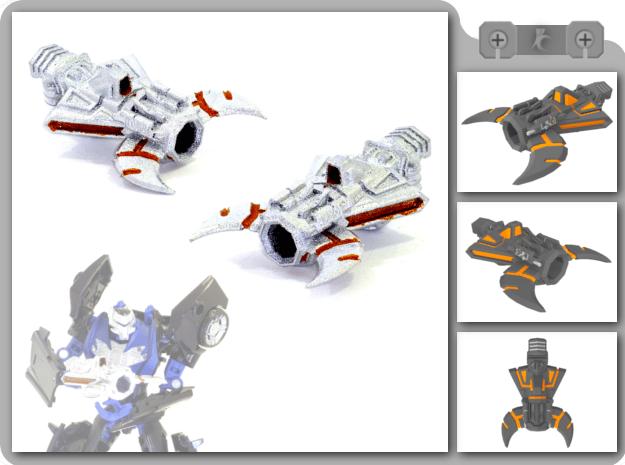 [CCC] Crash Cannon in White Natural Versatile Plastic