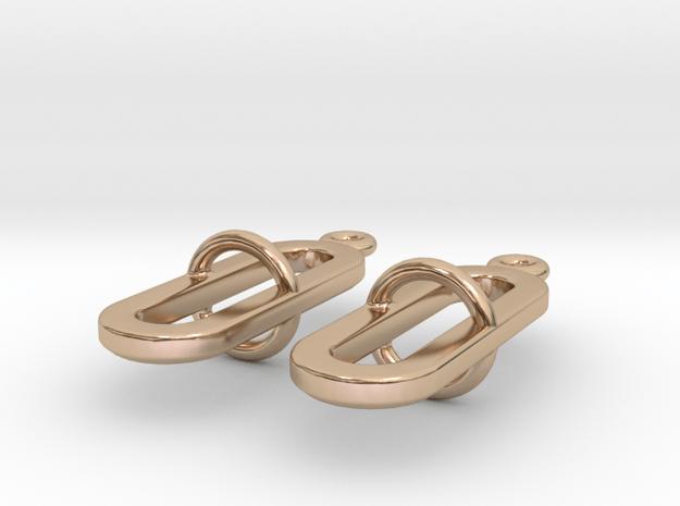Pilme - Earrings in 14k Rose Gold Plated Brass