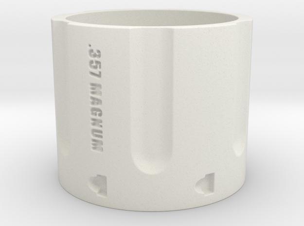 357 Magnum Cylinder, 6 shot, Ring Size 11 in White Natural Versatile Plastic