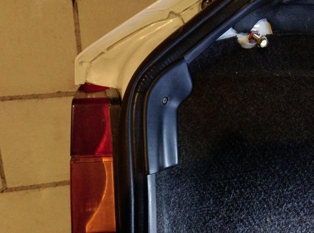 Lancia Delta Abdeckung Heckklappe Boot Plate (R) 1 in White Processed Versatile Plastic