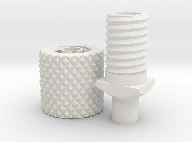 Ultimaker Feeder Clamp in White Natural Versatile Plastic