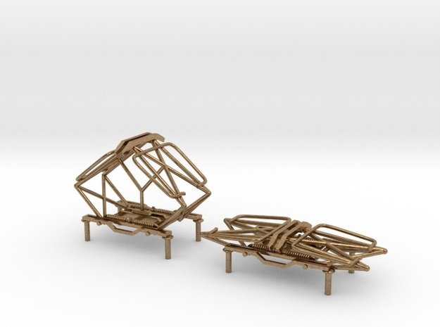 MILW Style Fixed Pantographs in Natural Brass
