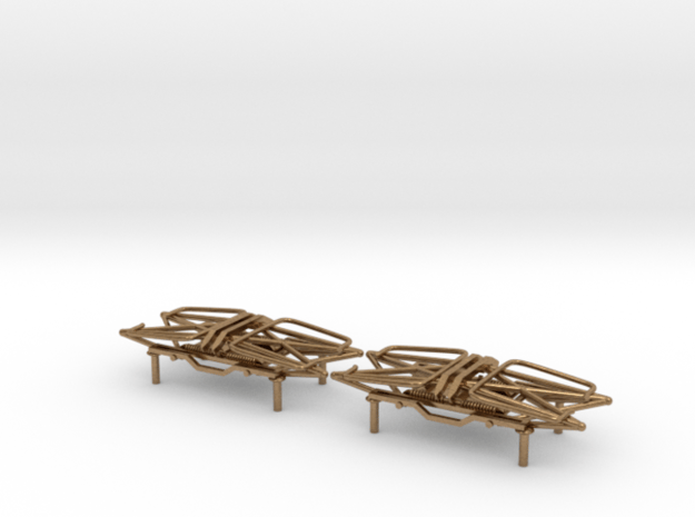 MILW Style Fixed Pantographs (Down / Down) in Natural Brass