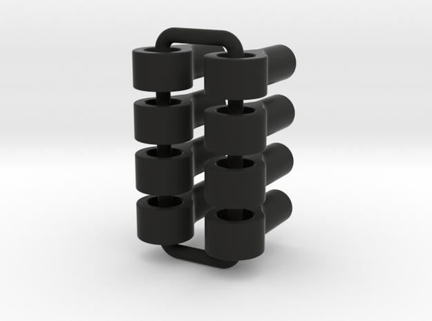 045015-03 2.4mm Threaded Eyelet w/ 4mm Hole, 12.75 in Black Natural Versatile Plastic