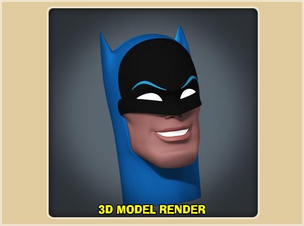 1:6 Scale Batman Head in White Processed Versatile Plastic