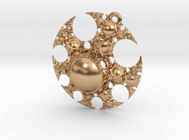 Josklein Fractal Pendant in Polished Bronze: Medium