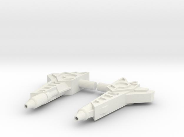 Titans Return Fastclash Weapons in White Natural Versatile Plastic