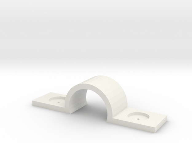 Thumbtack Dry Wall Cable / Cord Bracket in White Natural Versatile Plastic