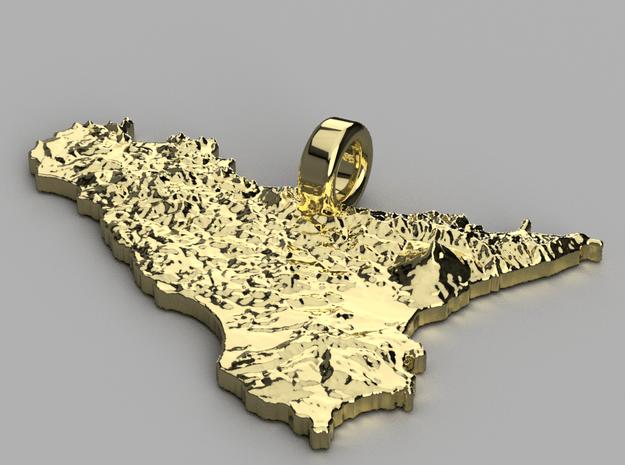 Pendente di Sicilia in 14k Gold Plated Brass