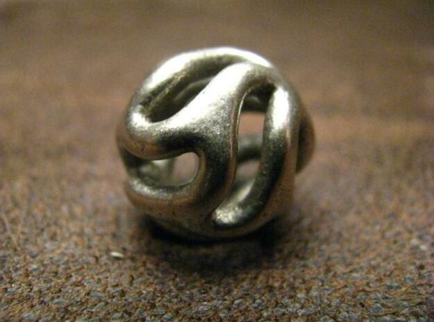 Starfish Kanga Pendant in Polished Bronzed Silver Steel