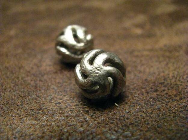 Starfish Kanga Earrings in Polished Bronzed Silver Steel