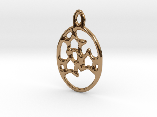 3 Star Egg Pendant in Polished Brass