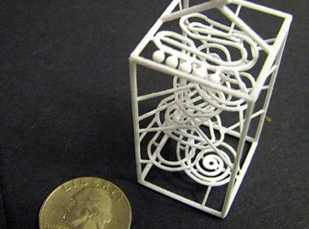 Super Tiny RBS Marble Run Rolling Ball Sculpture in Smooth Fine Detail Plastic