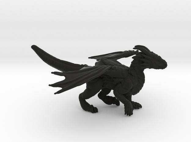 Curious Dragon  in Black Natural Versatile Plastic