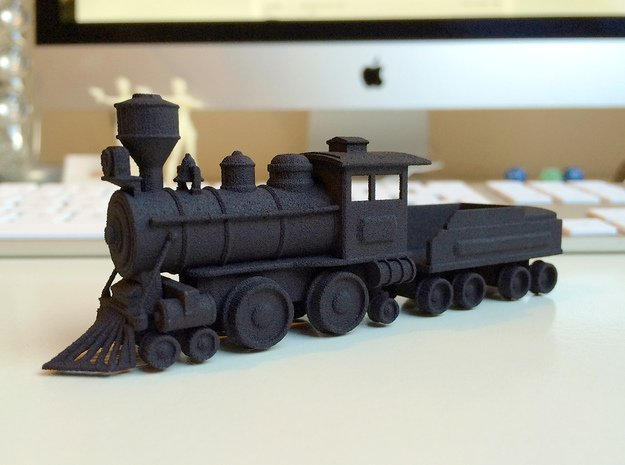 Locomotive in Black Natural Versatile Plastic