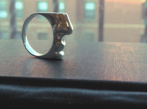 Taste and Smell ring in Polished Silver: 7 / 54